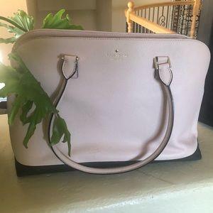 Kate Spade pink/black large title purse